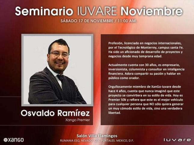 Seminario Iuvare Noviembre 17